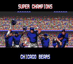 Tecmo Super Bowl - Cut-Scene  - super bowl champions!! - User Screenshot