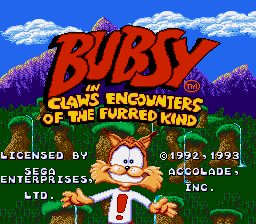 Bubsy - Introduction  -  - User Screenshot