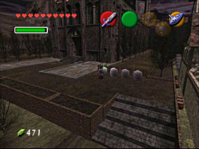 The Legend of Zelda - Ocarina of Time - Master Quest - Location  - statue - User Screenshot