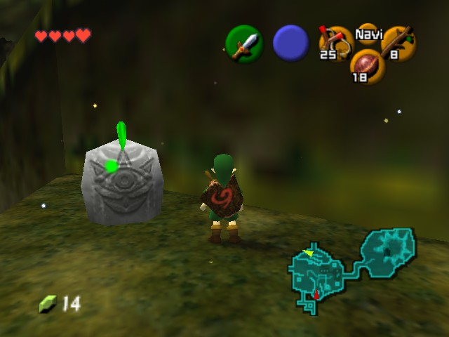The Legend of Zelda - Ocarina of Time - Introduction  - statue - User Screenshot