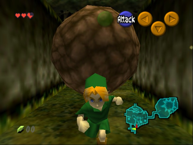 The Legend of Zelda - Ocarina of Time - Level korki forest - Legend of Indiana: Raiders of the korki chest - User Screenshot