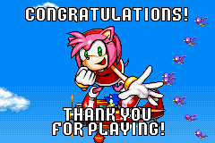 Sonic Advance - Ending  - finished the game whit Amy - User Screenshot