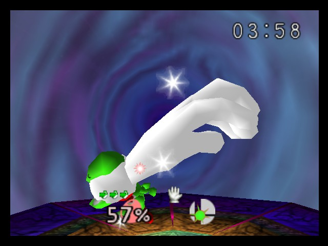 Super Smash Bros. - Battle  - yoshi win master hand - User Screenshot