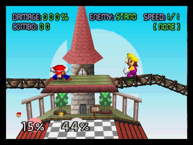 Super Smash Bros. - Battle  - Mario vs Wario - User Screenshot