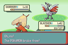 Pokemon Emerald - Battle  - Why does it have to be so hard to catch?? DX - User Screenshot