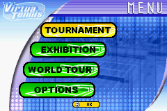 Virtua Tennis - Menus  - Main Menu - User Screenshot
