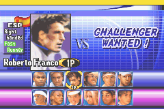 Virtua Tennis - Character Select  - Character Select - User Screenshot