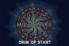 Weekend Miljonairs - Introduction  - Title Screen - User Screenshot