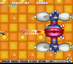 Gokujou Parodius - Level  - Icing Cannons - User Screenshot