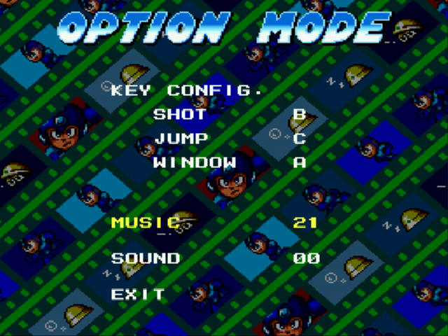 Mega Man - The Wily Wars - Menus Options - Jammin