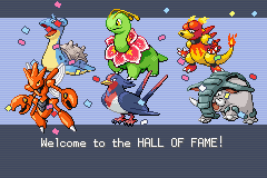 Pokemon Shiny Gold - Gameover  - oh yeah :D beat elite4 and 2 other guys lol - User Screenshot