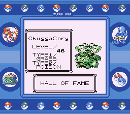 Pokemon Blue - Ending  - Chuggaaconroy the VENUSAUR - User Screenshot