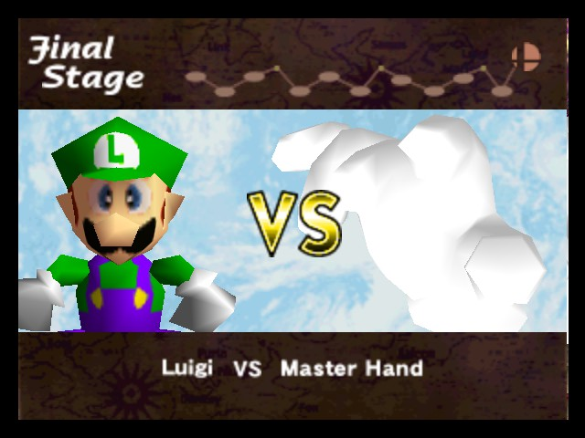 Super Smash Bros. - Cut-Scene  - LUIGI! BEHIND YOU! - User Screenshot
