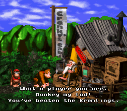 Donkey Kong Country - Ending  - Thanks, grandfather! - User Screenshot