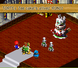 Super Mario RPG - Legend of the Seven Stars - Battle  - Portal references, ACTIVATE!!! - User Screenshot