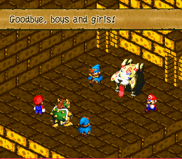 Super Mario RPG - Legend of the Seven Stars - Battle  - What is this, a kid