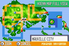 Pokemon Ruby - World Map  - Hoenn Town Map - User Screenshot