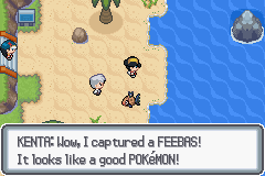 well evolve it adn you on love in feebas WAT