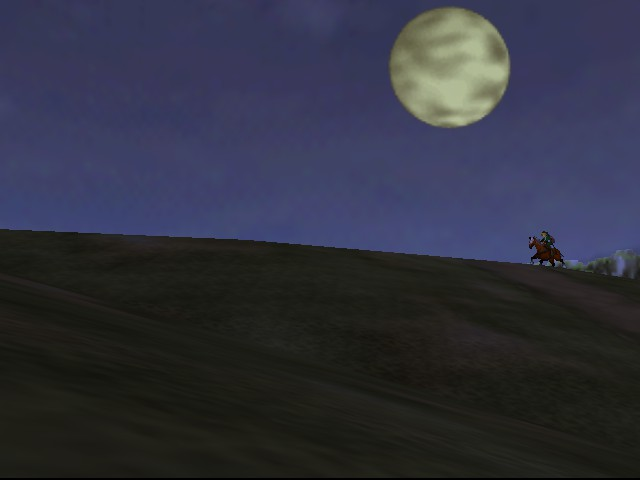 The Legend of Zelda - Ocarina of Time - Introduction  - The moon! Even MORE beautiful. - User Screenshot
