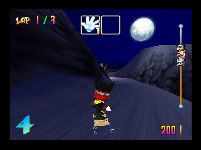 Snowboard Kids - Level  - Oh, look! Another moon! - User Screenshot