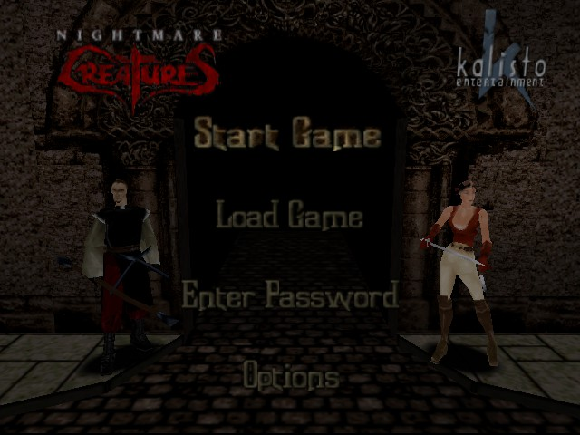 Nightmare Creatures - Introduction  - Selection Screen - User Screenshot