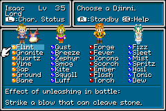 Golden Sun - Character Profile  - Every Djinn in the game. :) - User Screenshot