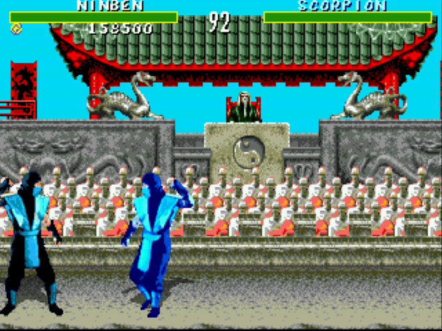 Mortal Kombat 6 28 People - xD frozen Scorpion!! - User Screenshot