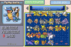 Pokemon Stadium Advanced (Beta 1.1) - my pokemon box - User Screenshot