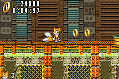 Sonic Advance - Level Secret Base Zone - I got 24000 score - User Screenshot