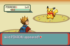 Pokemon Glazed (beta 3) - Battle  - Pikachu has a scarf? but he looks great - User Screenshot