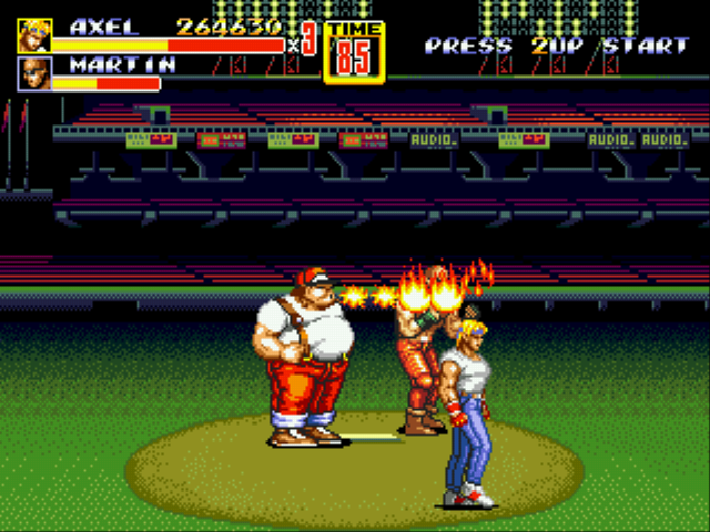 Streets of Rage 2 - Burning the wrong guy...lol - User Screenshot