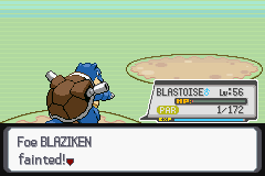 Pokemon Light Platinum - Battle  - So close! - User Screenshot