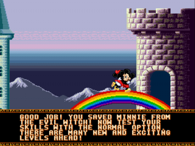 Castle of Illusion Starring Mickey Mouse - Ending  - Yay! - User Screenshot