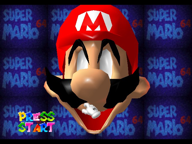 Super Mario 64 - Introduction  - evil mario - User Screenshot