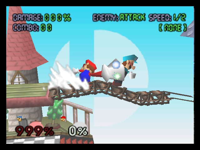 Super Smash Bros. - Battle  - 999% damage, luigi will be able to fly! - User Screenshot