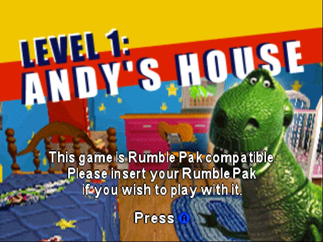 Toy Story 2 - Level  - andy house loading screen - User Screenshot