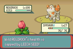 Pokemon Rebirth - Battle  - leech seed and go tho sleep is powerfull :) - User Screenshot