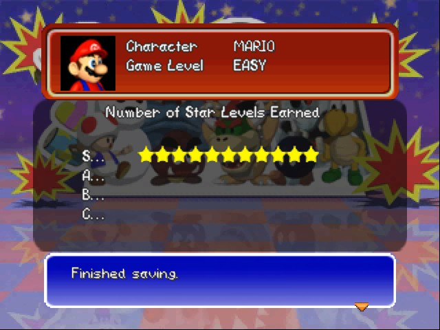Mario Party 3 - Character Profile  - NO! I didn t get an A, a B nor a C. - User Screenshot