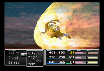Final Fantasy VII - Battle  - Hellfire - User Screenshot