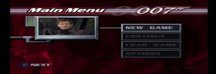James Bond 007: Tomorrow Never Dies - Menus Main Menu -  - User Screenshot