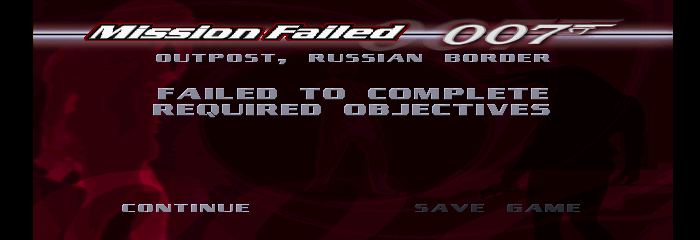 007: Tomorrow Never Dies - Gameover  -  - User Screenshot