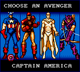 Captain America and the Avengers - Character Select  -  - User Screenshot