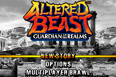 Altered Beast - Guardian of the Realms - Menus Title Screen -  - User Screenshot