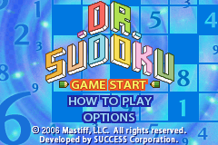 Dr. Sudoku - Menus Title Screen -  - User Screenshot