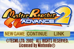 Monster Rancher Advance 2 - Menus Title Screen -  - User Screenshot