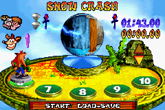 Crash Bandicoot - The Huge Adventure - Level Select  -  - User Screenshot