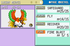Pokemon Shiny Gold - Character Profile  - i got a ho-oh in my first try - User Screenshot
