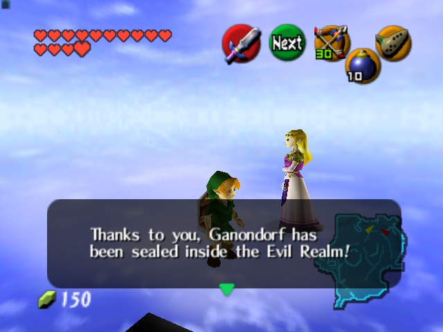 The Legend of Zelda - Ocarina of Time (Debug Edition) - Misc Weird thing - Invisible Hyrule field - User Screenshot