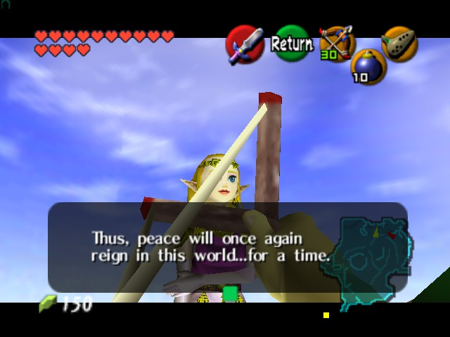 The Legend of Zelda - Ocarina of Time (Debug Edition) - Cut-Scene  - Hi Zelda - User Screenshot