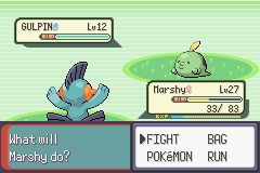 Pokemon Emerald - Battle  - (gulp gulp) - User Screenshot